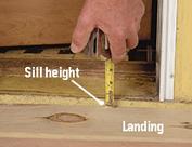 Measue door sill height